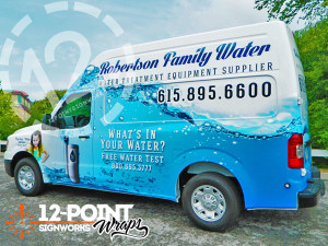 12-Point SignWorks - Robertson Family Water wrap project